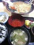 味噌ラーメン&イクラ丼(味の美和)