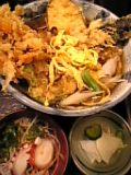 野菜天ぷら蕎麦(更科)