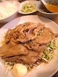 生姜焼き定食(一番飯店)