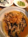 茄子と豚肉炒 おろしポン酢かけ