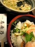 ちらし寿司定食(志奈乃)