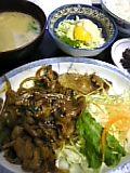 豚ピリ辛炒め定食(一富士)