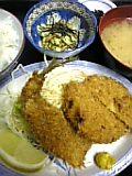 アジフライ&メンチかつ定食