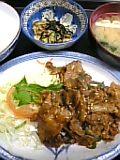 豚肉ぴり辛炒め定食