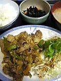 豚ピリ辛炒め定食