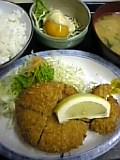 メンチかつ&ホタテフライ定食