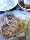 生姜焼き定食(北京)