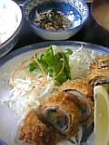 豚肉野菜巻フライ定食