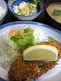 メンチコロッケ定食