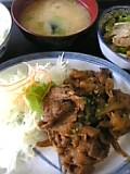 豚肉ピリ辛炒め定食