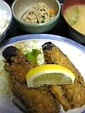 ナス肉詰めフライ定食