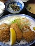 ホタテフライ&コロッケ定食