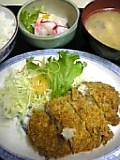 メンチ山芋コロッケ定食