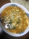 納豆キムチ雑炊。