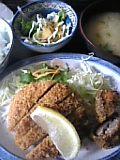 メンチかつ&椎茸肉詰めフライ定食