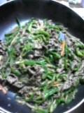 青椒肉絲。