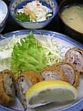 豚肉キノコフライ定食