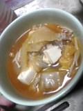 豚キムチ餃子鍋。