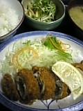 豚肉野菜巻きフライ定食