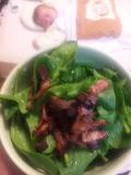 ほうれん草サラダ。