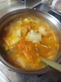 豚キムチ鍋。