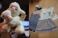 羊ぬいぐるみ&ベビー服。