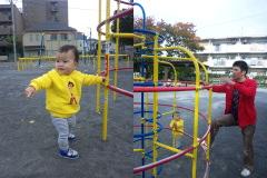 タイヤ公園。