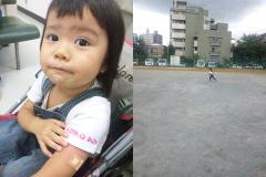 予防注射→公園。